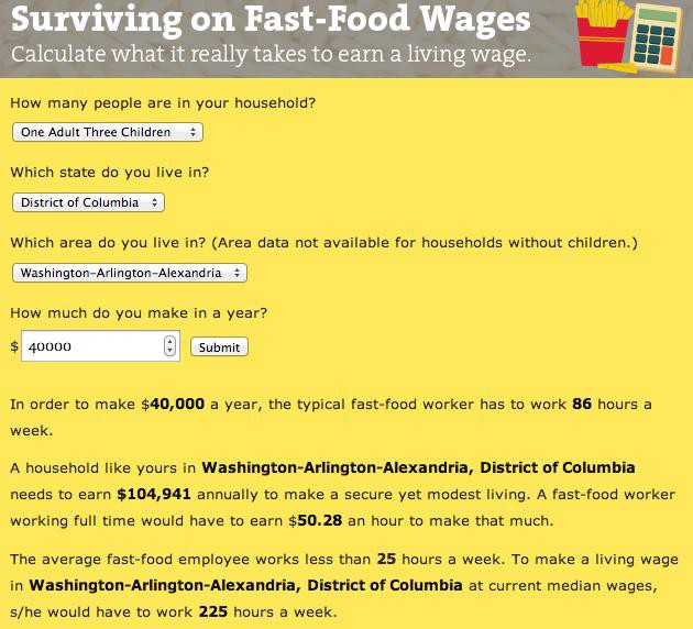 living on fast food wages the billfold