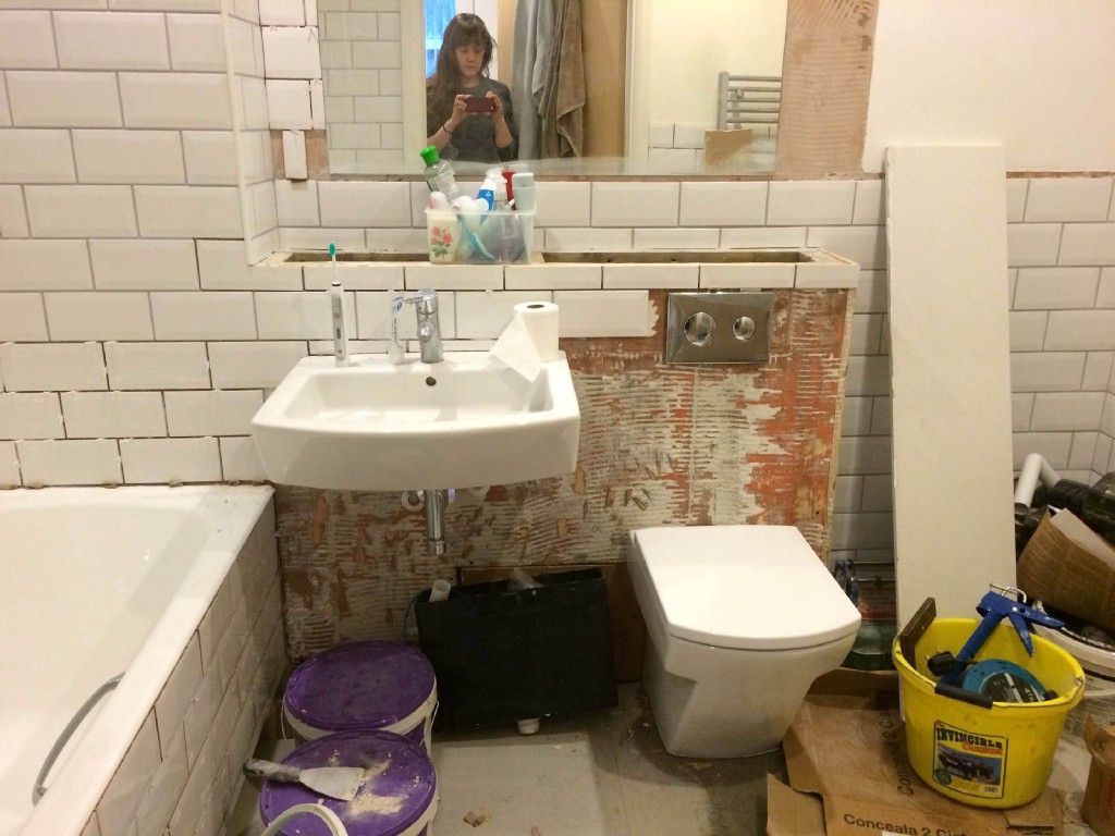 How to fix a leak in your new bathroom the billfold for Leaked bathroom photos