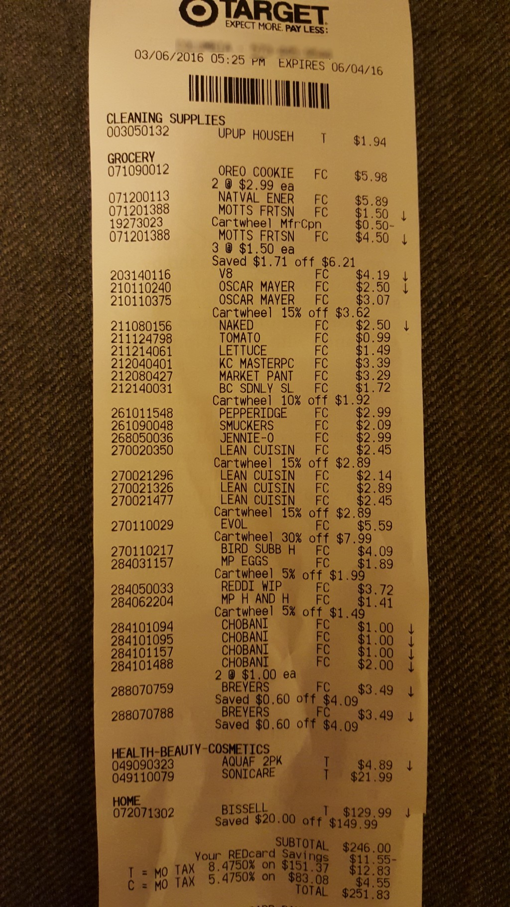 show us your grocery receipts part seven target the billfold