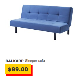 Sofabett ikea  One Year With Ikea's Second-Cheapest Sleeper Sofa - The Billfold