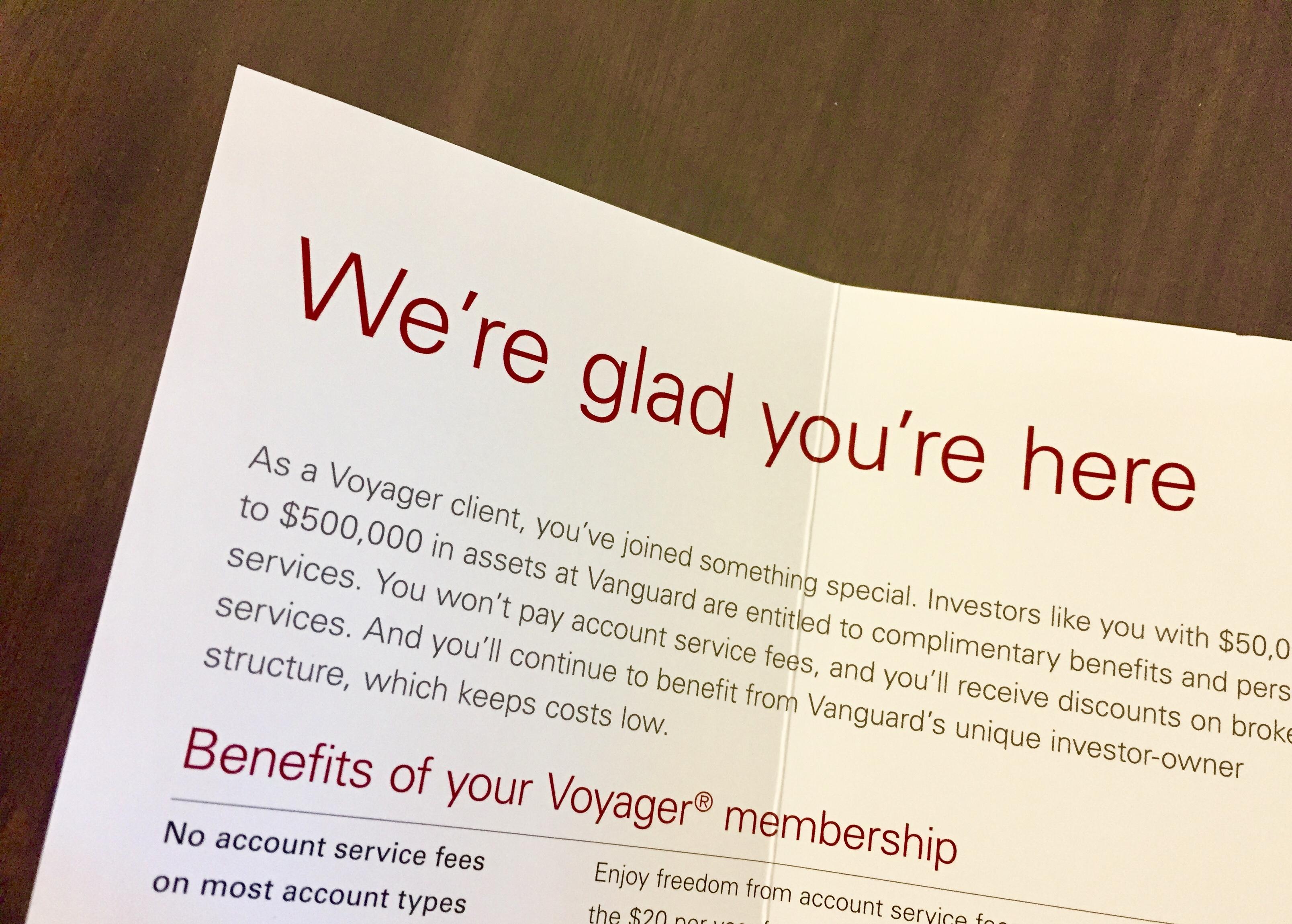 Vanguard voyager services